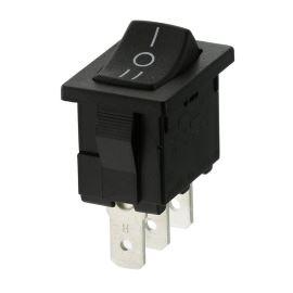 Kolébkový spínač do panelu přepínací 1-pólový ON-OFF-ON 10A/250V AC Bulgin H8620VBAAC