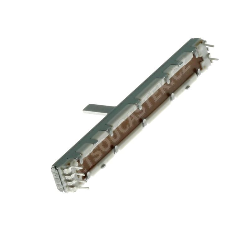Posuvný potenciometr 100mW logaritmický STEREO 100k Ohm 20% ALPS RS60112-100KAX2