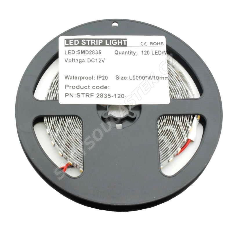 LED pásek přírodní bílá délka 1 metr, SMD 2835, 120LED/m - nevodotěsný STRF 2835-120-NW