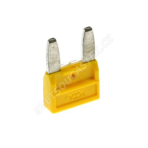 Automobilová mini pojistka 20A/32V žlutá MTA MINIVAL 20A