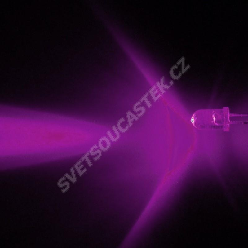 LED 5mm Infra(IR) 160mW/sr/13° transparentní Hebei 510E850C
