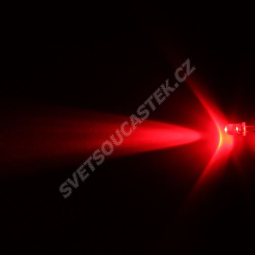 LED 5mm červená 12000mcd/13° čirá Hebei 510PR2C