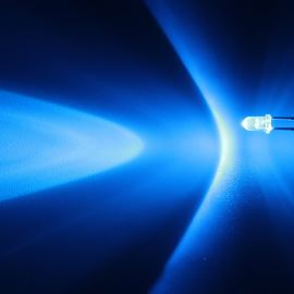 LED 3mm modrá 4000mcd/30° čirá Hebei 330LB7C