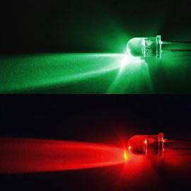 LED 5mm červeno-zelená měnící barvu 5800/12000mcd/30° čirá Optosupply OSRPMS5A31A