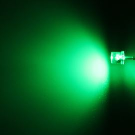 LED 5mm zelená 800mcd/100° čirá Hebei 599VG2C