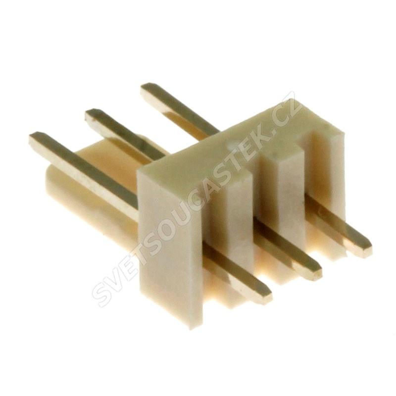 Konektor se zámkem 3 piny (1x3) do DPS RM2.54mm přímý pozlacený Xinya 137-03 S G