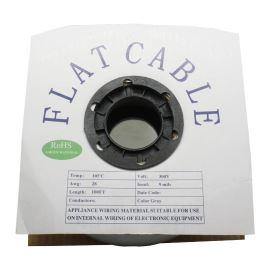 Plochý kábel AWG28 10 žil licna rozteč 1,27mm PVC šedá farba