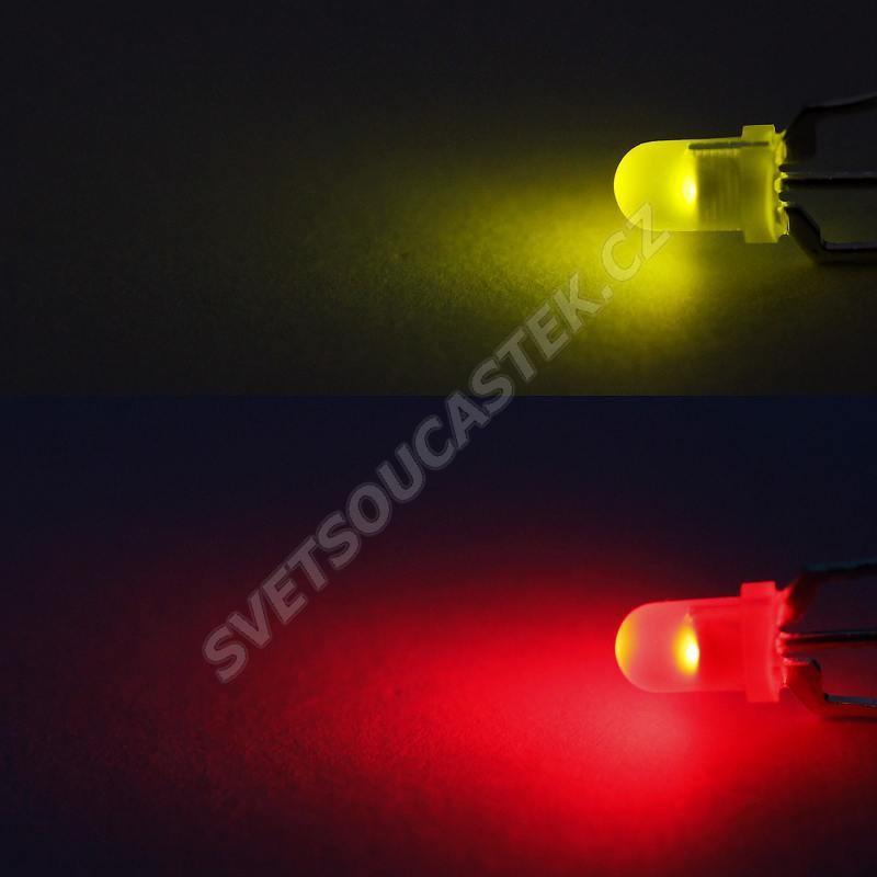 LED 3mm červeno-zelená 20/16mcd/60° difúzní Kingbright L-937EGW