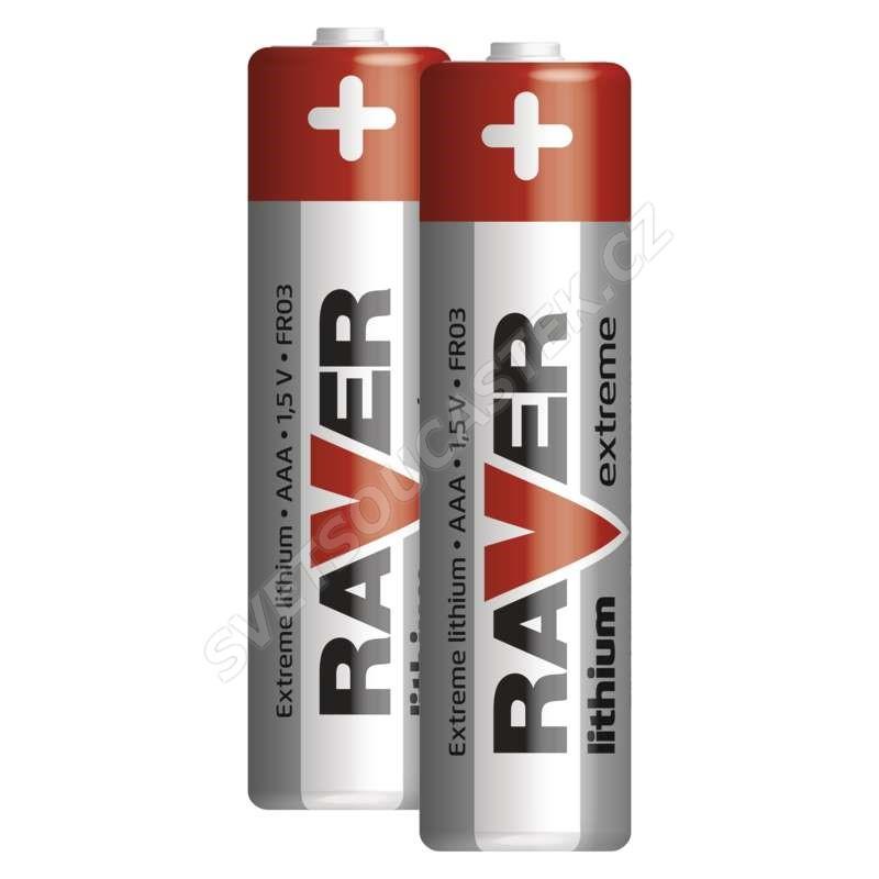 Lithiová baterie Raver FR03 (AAA, mikrotužka), 2 ks v blistru