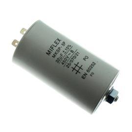 Rozběhový kondenzátor I15KV 32uF/450V ±10% Faston 6.3mm Miflex I15KV632K-B