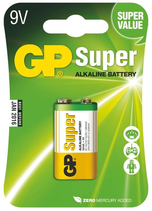 GP SuperAlkaline 9V 1ks 1013501000