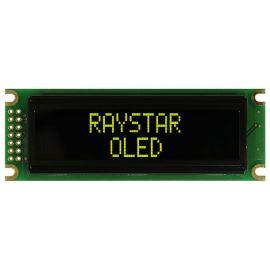 Alfanumerický OLED displej Raystar REC001602DYPP5N00000