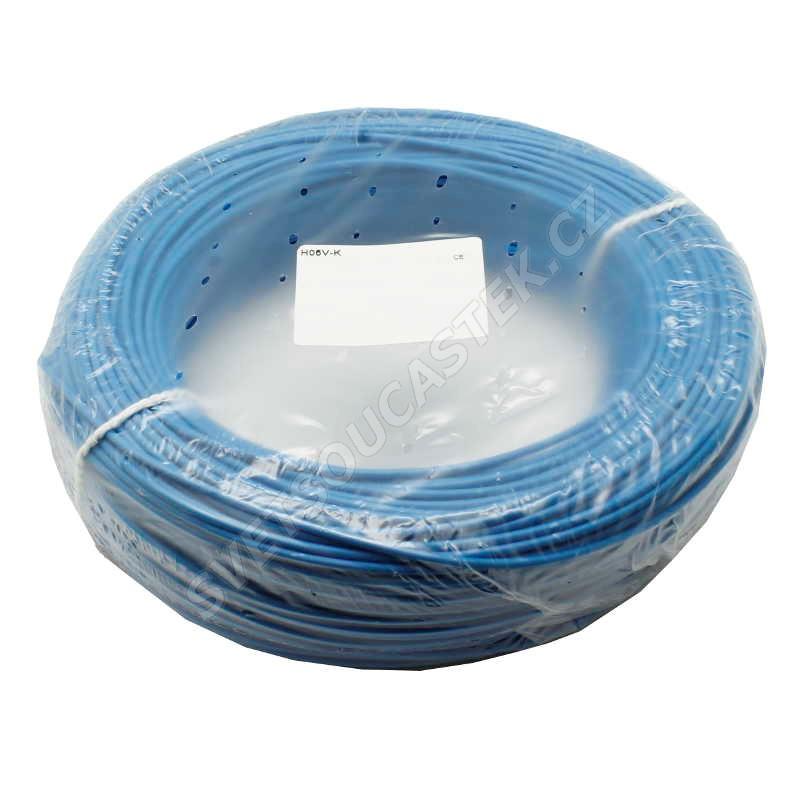 Jednožilový vodič lanko 1x0.5mm svetlo modrý H05V-K (LGY, CYA) 300 / 500V
