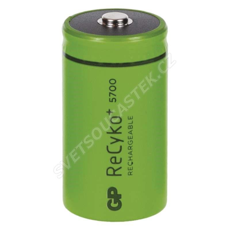 Nabíjecí baterie GP ReCyko+ 5700 HR20 (D), 2 ks v blistru