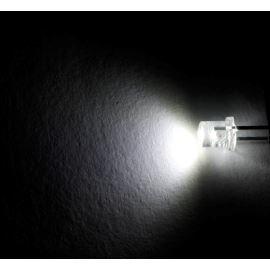 LED 3mm stud. bílá 1800mcd/140° čirá Optosupply OSW5DK34E1A