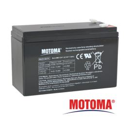 Olověný akumulátor 12V 7,5Ah MOTOMA bezúdržbový akumulátor (konektor 4,75 mm)
