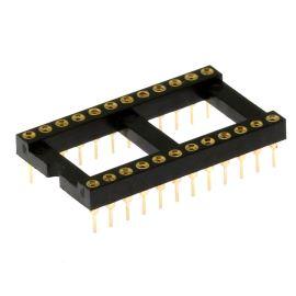 Precizní patice pro IO 24 pinů široká DIL24 Xinya 126-6-24RG