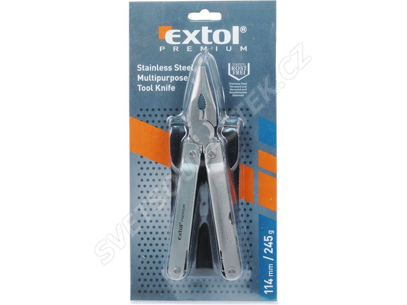 Nůž-kleště multifunkční 11 dílů nerez 175/114mm Extol Premium 8855132