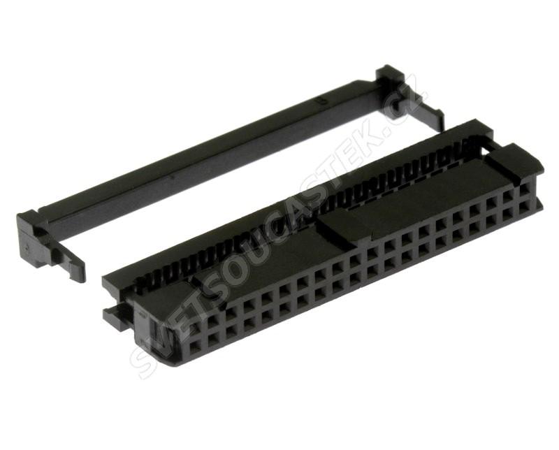 Konektor IDC pro ploché kabely 40 pinů (2x20) RM2.54mm na kabel přímý  Xinya 110-40 G A K