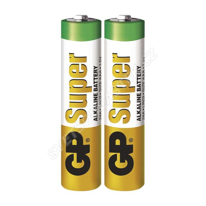 Alkalická batéria GP Super LR03 (AAA), 2 ks vo fólii