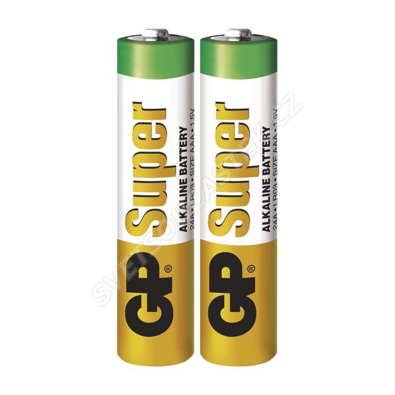 Alkalická baterie GP Super LR03 (AAA), 2 ks ve fólii
