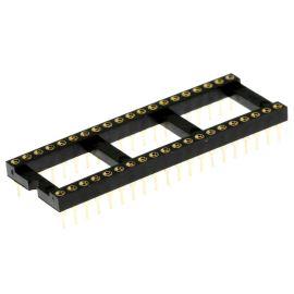 Precizní patice pro IO 40 pinů široká DIL40 Xinya 126-6-40RG