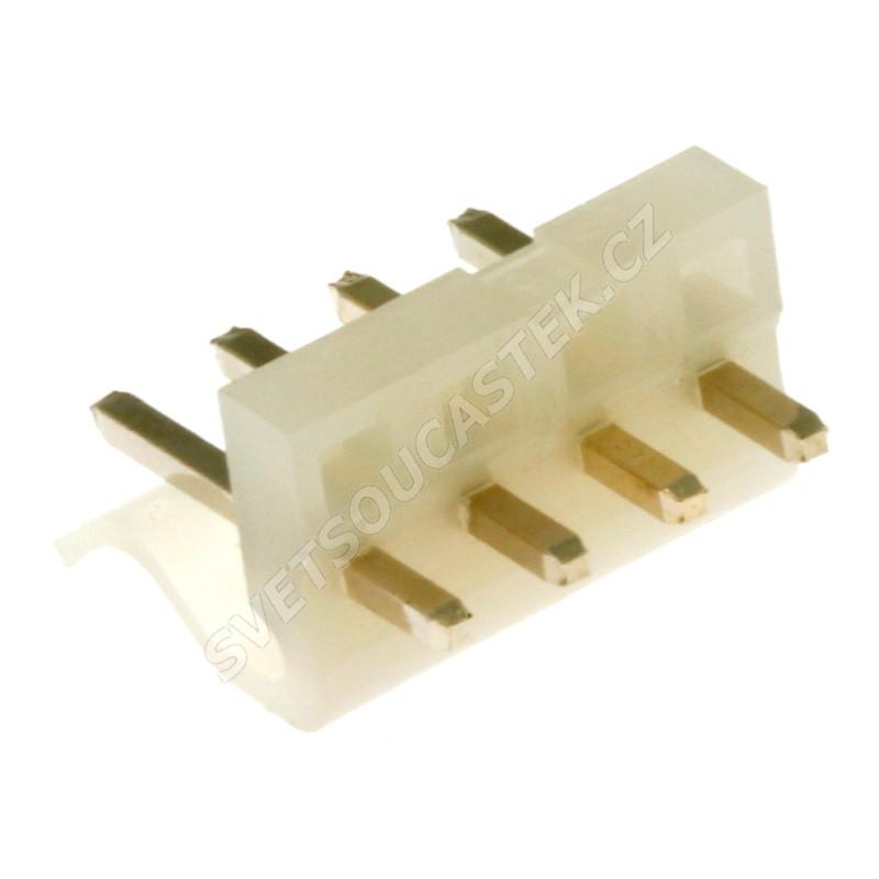 Konektor se zámkem 4 piny (1x4) do DPS RM3.96mm přímý pozlacený Xinya 134-04 S G