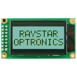 Alfanumerický LCD displej Raystar RC0802A-GHW-ESV