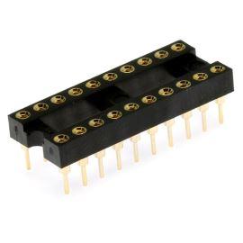 Precizní patice pro IO 20 pinů úzká DIL20 Xinya 126-3-20RG