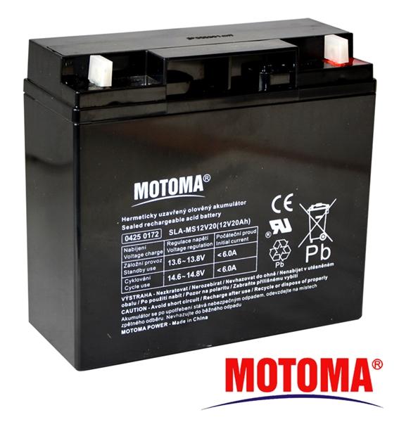 MOTOMA Baterie olověná 12V / 20Ah bezúdržbový akumulátor