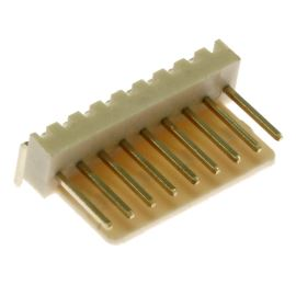 Konektor se zámkem 9 pinů (1x9) do DPS RM2.54mm úhlový 90° pozlacený Xinya 137-09 R G