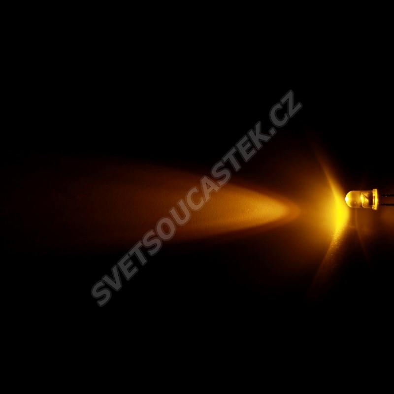 LED 5mm žlutá 4000mcd/17° čirá Hebei 515XY8C