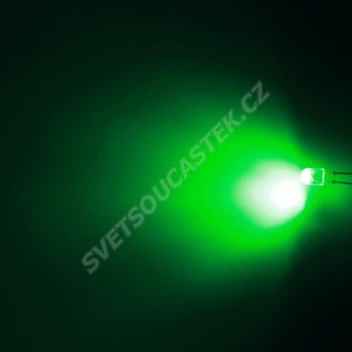 LED oválná 5,2x3,8mm zelená 3000mcd/(110/50°) difúzní Hebei 7511PG2D-SB