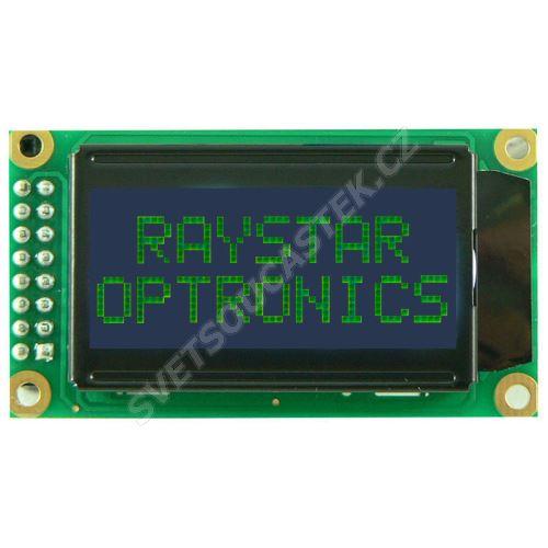 Alfanumerický LCD displej Raystar RC0802A-BIY-ESV