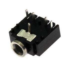 Zásuvka do DPS plastová pro Jack 3.5mm STEREO 2 vyp.kontakty