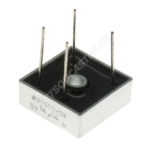 Usměrňovací diodový můstek 600V 15A Yangjie KBPC1506W