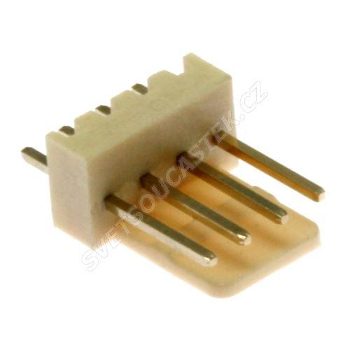 Konektor se zámkem 4 piny (1x4) do DPS RM2.54mm přímý pozlacený Xinya 137-04 S G