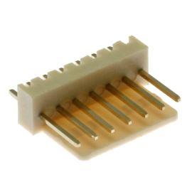 Konektor se zámkem 7 pinů (1x7) do DPS RM2.54mm přímý pozlacený Xinya 137-07 S G