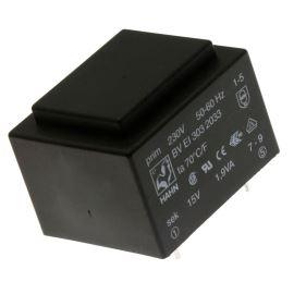 Trasnformátor do DPS 1.9VA/230V 1x15V Hahn BV EI 303 2033