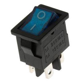 Kolébkový spínač do panelu spínací 1-pólový ON-OFF 6/3A 125/250V AC Jietong  MIRS-101-C3-BL/B