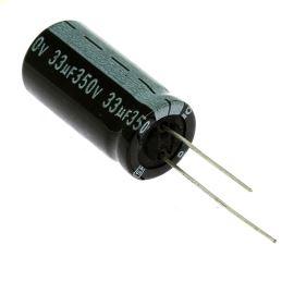 Elektrolytický kondenzátor radiální E 33uF/350V 13x26 RM5 85°C Jamicon SKR330M2VJ26M