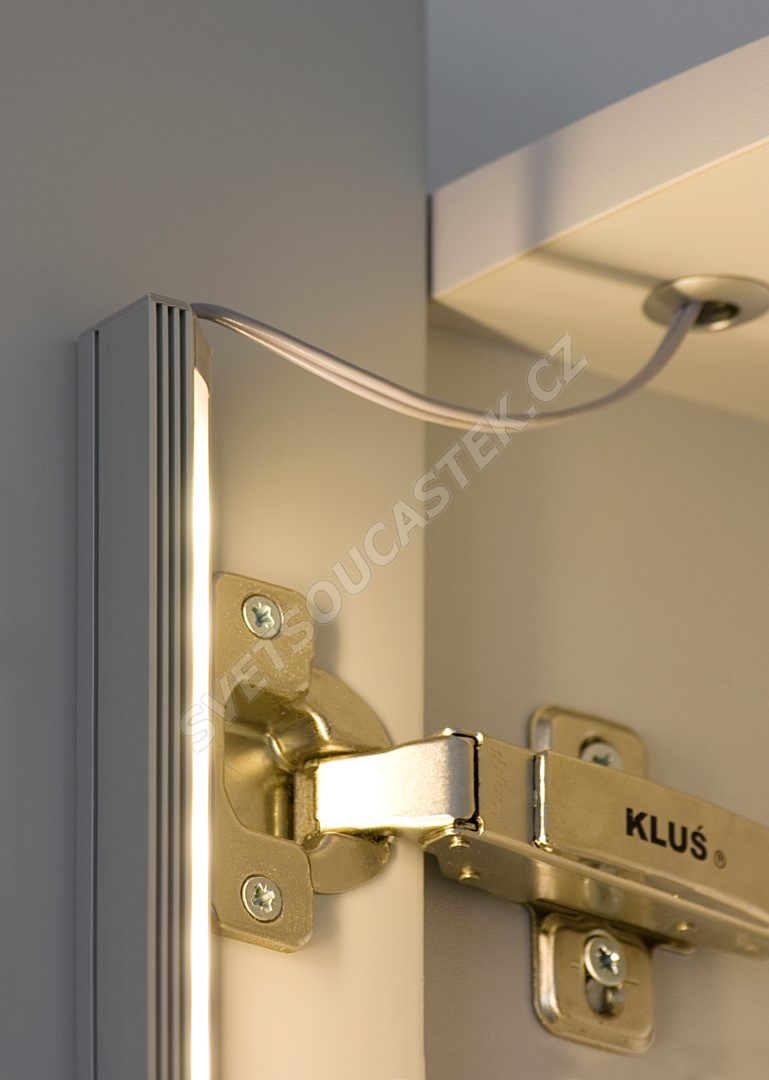 Lišta na LED pásky 45-ALU Elox 1m KLUŚ B4023ANODA