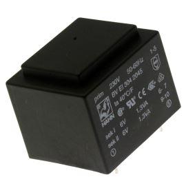 Trasnformátor do DPS 2.6VA/230V 2x6V Hahn BV EI 304 2045