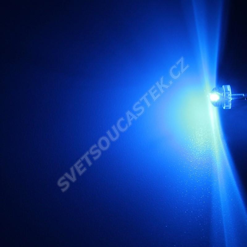 LED 4,8mm modrá 145mcd/170° čirá Hebei 412LB7C