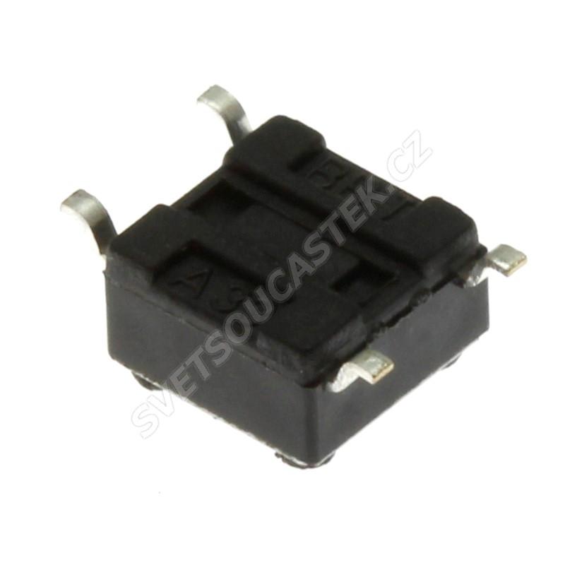 Mikrospínač do DPS SMD spínací 1-pólový OFF-(ON) 0.05A 12V DC Ninigi TACTM-64N-F