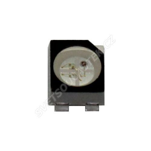 LED SMD PLCC4 RGB 1000mcd/130° čirá spol. anoda Hebei PLCC4RGBCT-CA
