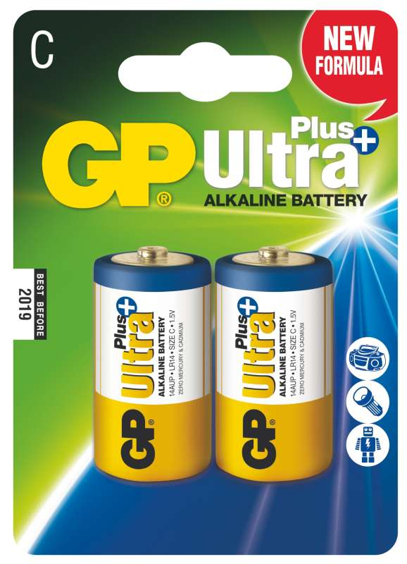 GP Ultra Plus LR14 (C), 2 ks v blistru