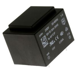 Trasnformátor do DPS 2.6VA/230V 1x15V Hahn BV EI 304 2043