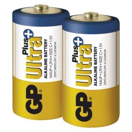 Alkalická batéria GP Ultra Plus LR14 (C), 2 ks v blistri