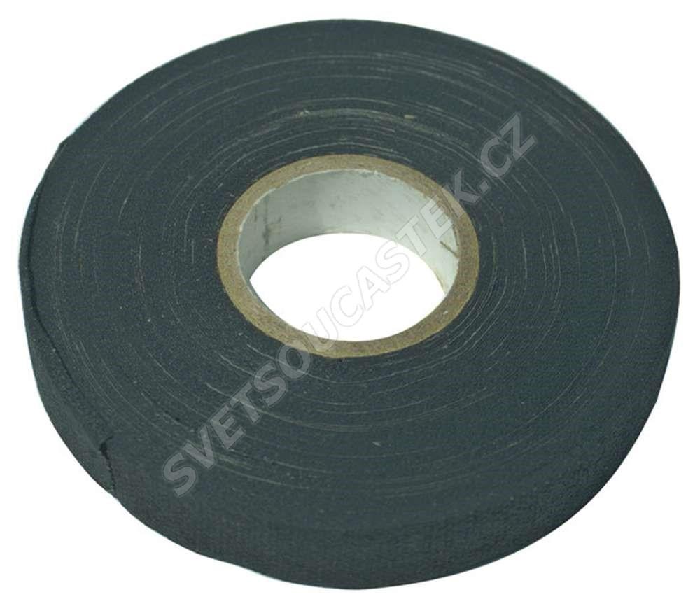 Izolačná páska textilná čierna 15mm / 15m